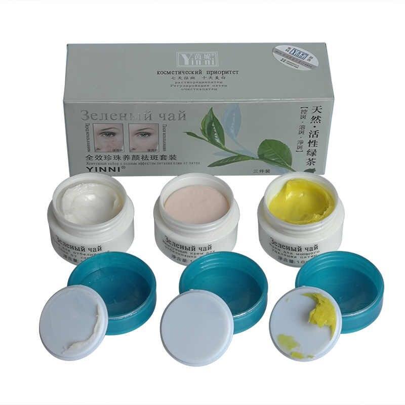 Yinni Набор косметический от пигментных пятен «Зеленый чай»3 в 1 - фото 2