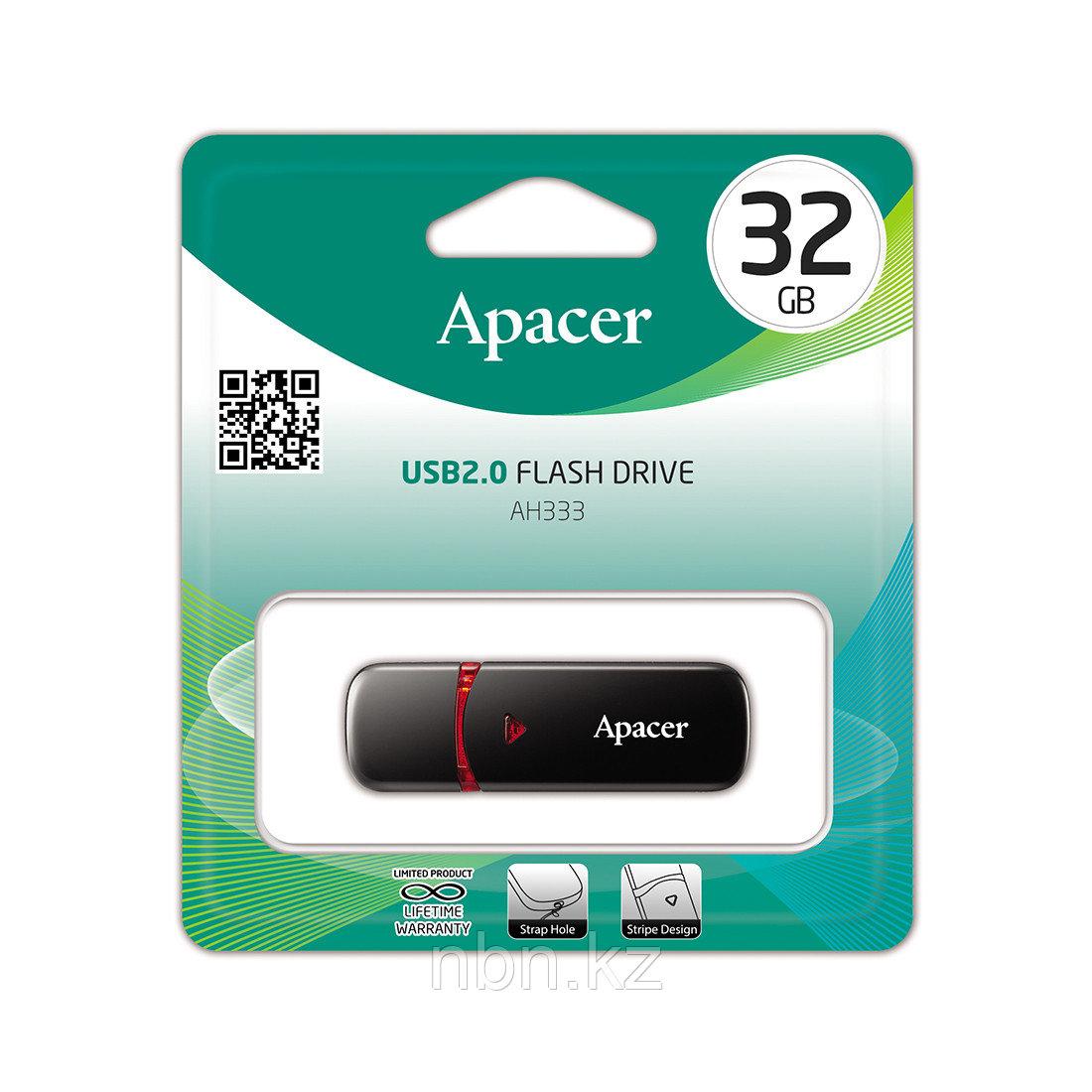 USB-накопитель Apacer AH333 32GB Чёрный - фото 3