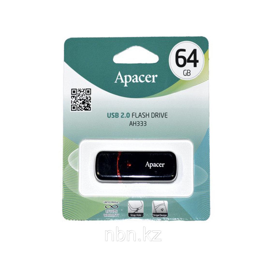USB-накопитель Apacer AH333 64GB Чёрный - фото 3
