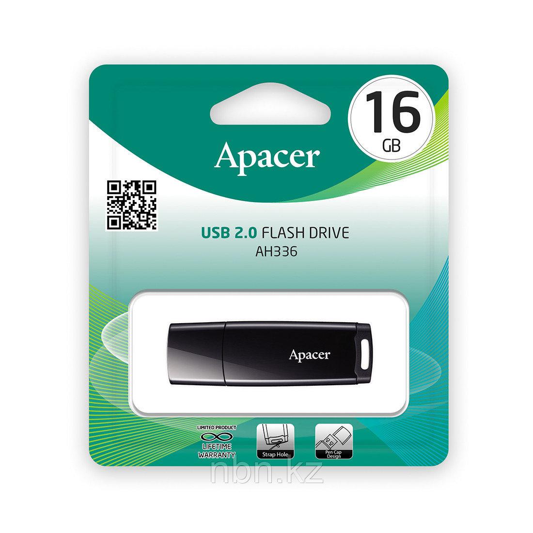 USB-накопитель Apacer AH336 16GB Чёрный - фото 2