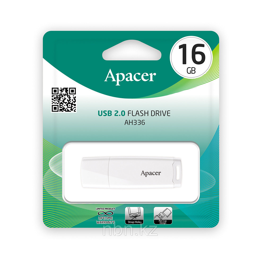 USB-накопитель Apacer AH336 16GB Белый - фото 2