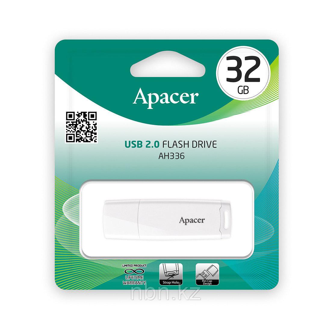 USB-накопитель Apacer AH336 32GB Белый - фото 2
