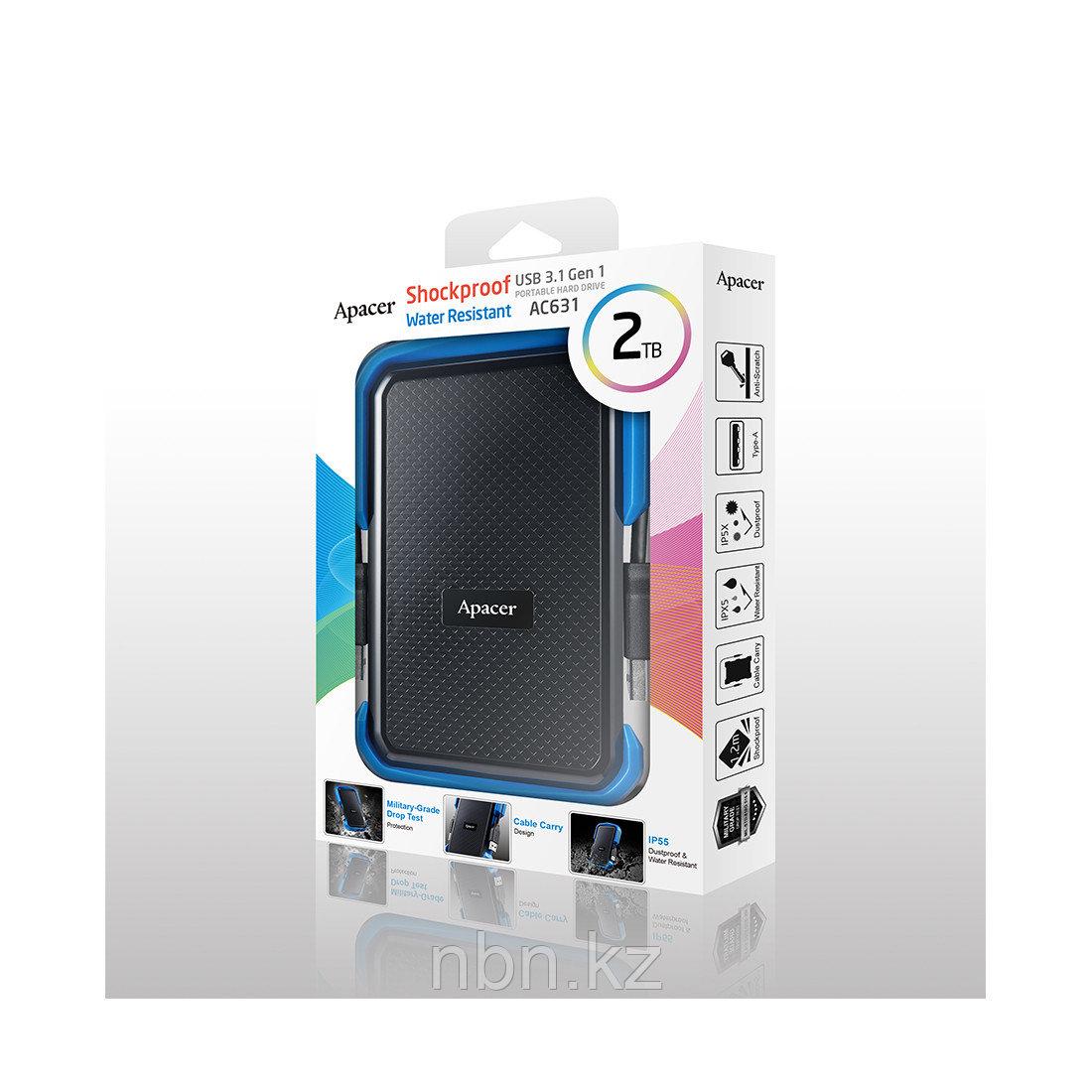 """Внешний жёсткий диск Apacer 2TB 2.5"""" AC631 Синий - фото 2"""