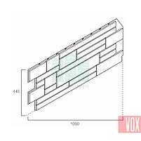Фасадная панель VOX Solid Cube Saumur (белый), фото 3