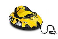 Тюбинг круговой овальный Машинка/желтый ТБМ2, фото 1