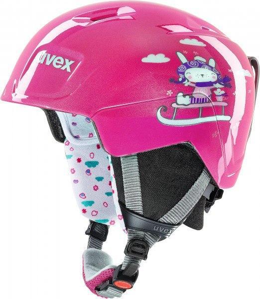Шлем детский Uvex manic ,,pink snow bunny'' size 51-55