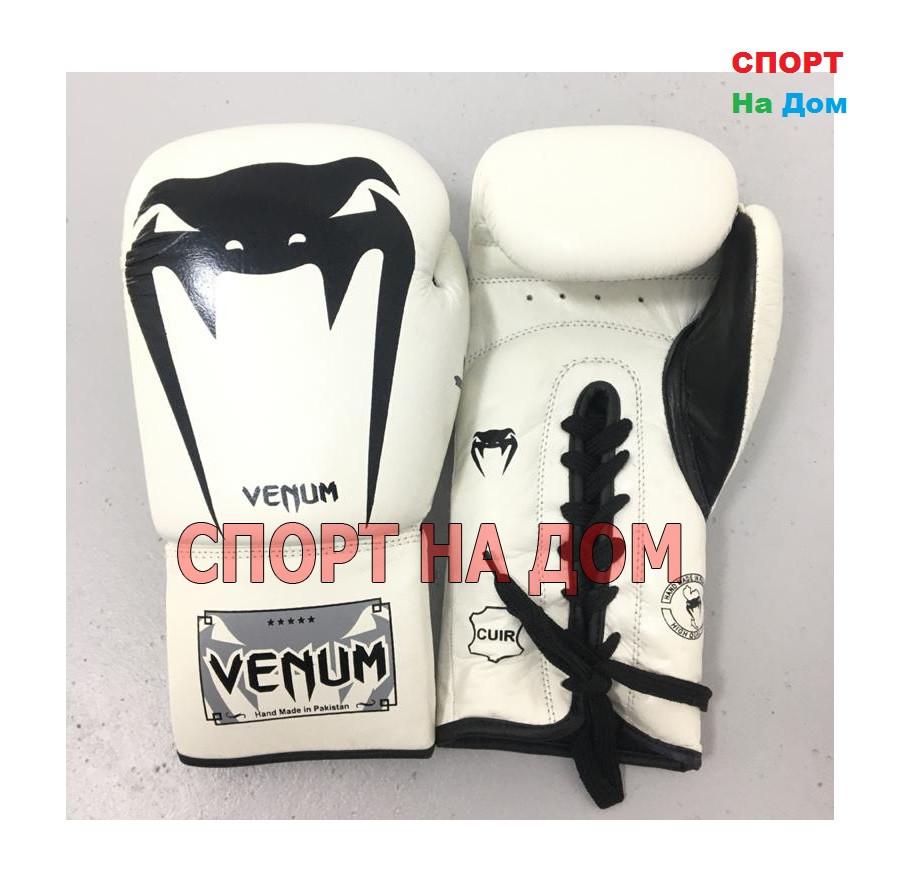 Перчатки для бокса Venum 12 OZ ( цвет белый)