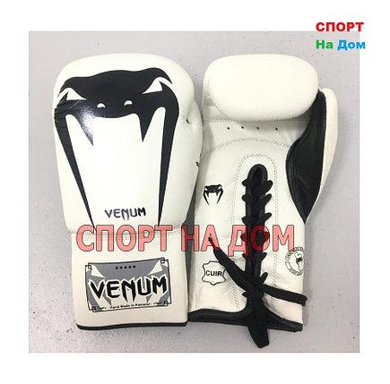Перчатки для бокса Venum 12 OZ ( цвет белый), фото 2