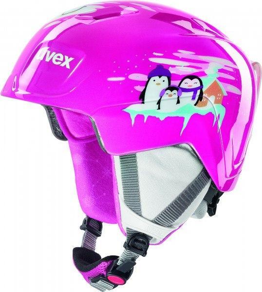 Шлем детский Uvex manic ,,pink penguin'' size 51-55