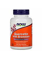 Now Foods, Кверцетин, (дегидрокверцитин)с бромелайном 120 капсул