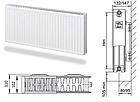 Радиатор отопительный стальной панельный Лемакс C22 300Х600, фото 2