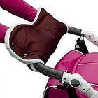 BAMBOLA Муфта для коляски шерстяной мех+плащевка+кнопки(лайт) Шоколад