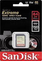 Карта памяти SanDisk EXTREME SD 64 GB 150mb/s