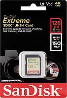 Карта памяти SanDisk EXTREME SD 128 GB 150mb/s