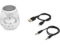 Портативная колонка Rave Light Up с функцией Bluetooth®, белый/прозрачный