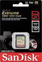 Карта памяти SanDisk EXTREME SD 256 GB 150mb/s
