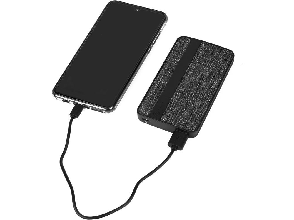 Зарядное устройство из ткани, 4000 mAh, черный - фото 2