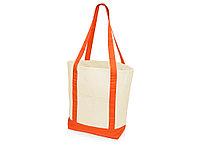 Сумка для шопинга Cotton, натуральный/оранжевый