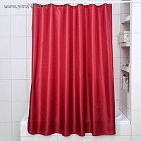 Штора для ванной комнаты «Бриллиант», 180×180 см, полиэстер, цвет бордовый