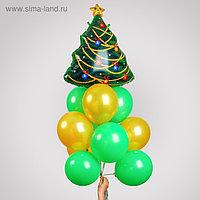 Фонтан из шаров «Новогодний», латекс, фольга, 13 шт.