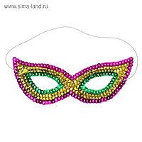Карнавальная маска «Загадка», с пайетками