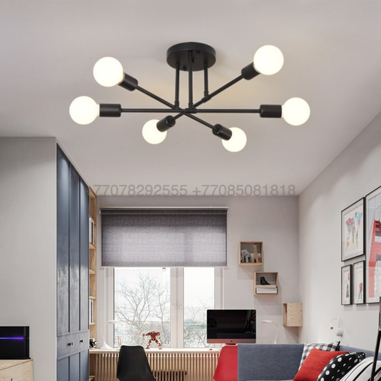 Modern Black люстра черная на 6 ламп