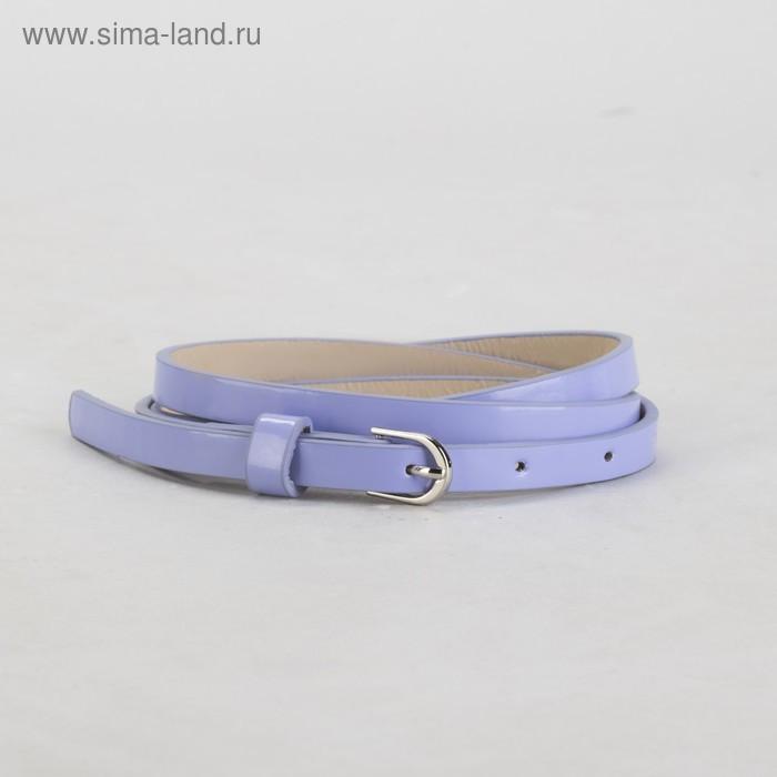 Ремень, гладкий, ширина - 1 см, пряжка металл, цвет сиреневый - фото 1