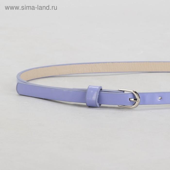 Ремень, гладкий, ширина - 1 см, пряжка металл, цвет сиреневый - фото 2