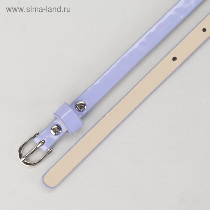 Ремень, гладкий, ширина - 1 см, пряжка металл, цвет сиреневый - фото 3