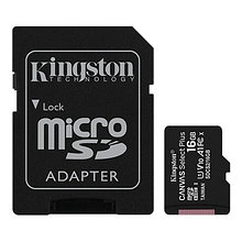 Kingston SDCS2/16GB-2P1A Карта памяти 16GB micro SDHC Canvas Select Plus 100R A1 C10 Two Pack + Single ADP