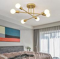 Modern Gold люстра золотая на 6 ламп, фото 1