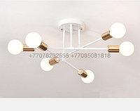 Modern White Gold люстра белая с золотом на 6 ламп