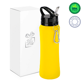 Бутылка для воды soft-touch, желтая.
