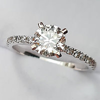 Сертификат GIA 1,21Сt SI2/L Good-Cut Золотое кольцо с бриллиантом