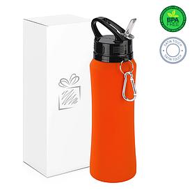 Бутылка для воды soft-touch, оранжевая.