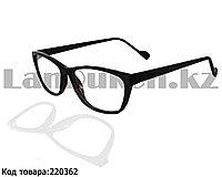 Компьютерные очки с тоненькой душкой узкая оправа глянцевые черные С1