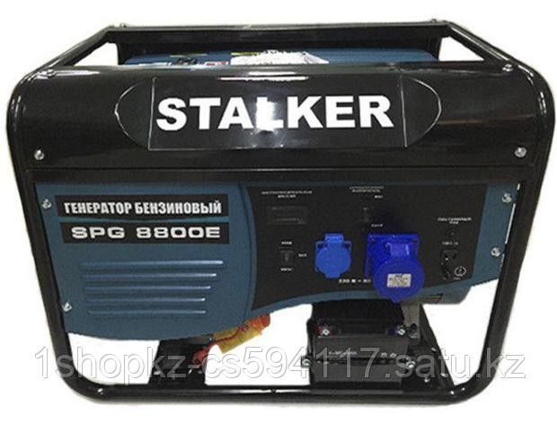 Бензиновый генератор SPG 8800E STALKER, фото 2
