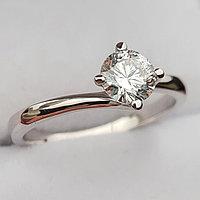 Золотое кольцо с бриллиантом 0,56Сt SI1/G EX-Cut, фото 1