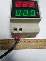 Индикатор напряжения и тока сети на Din - рейку
