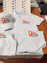 Нанесение логотипа на футболки поло