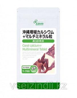 Коралловый кальций Окинава + мультиминералы, Lipusa, 3 мес
