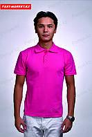 Розовая футболка поло, фото 1