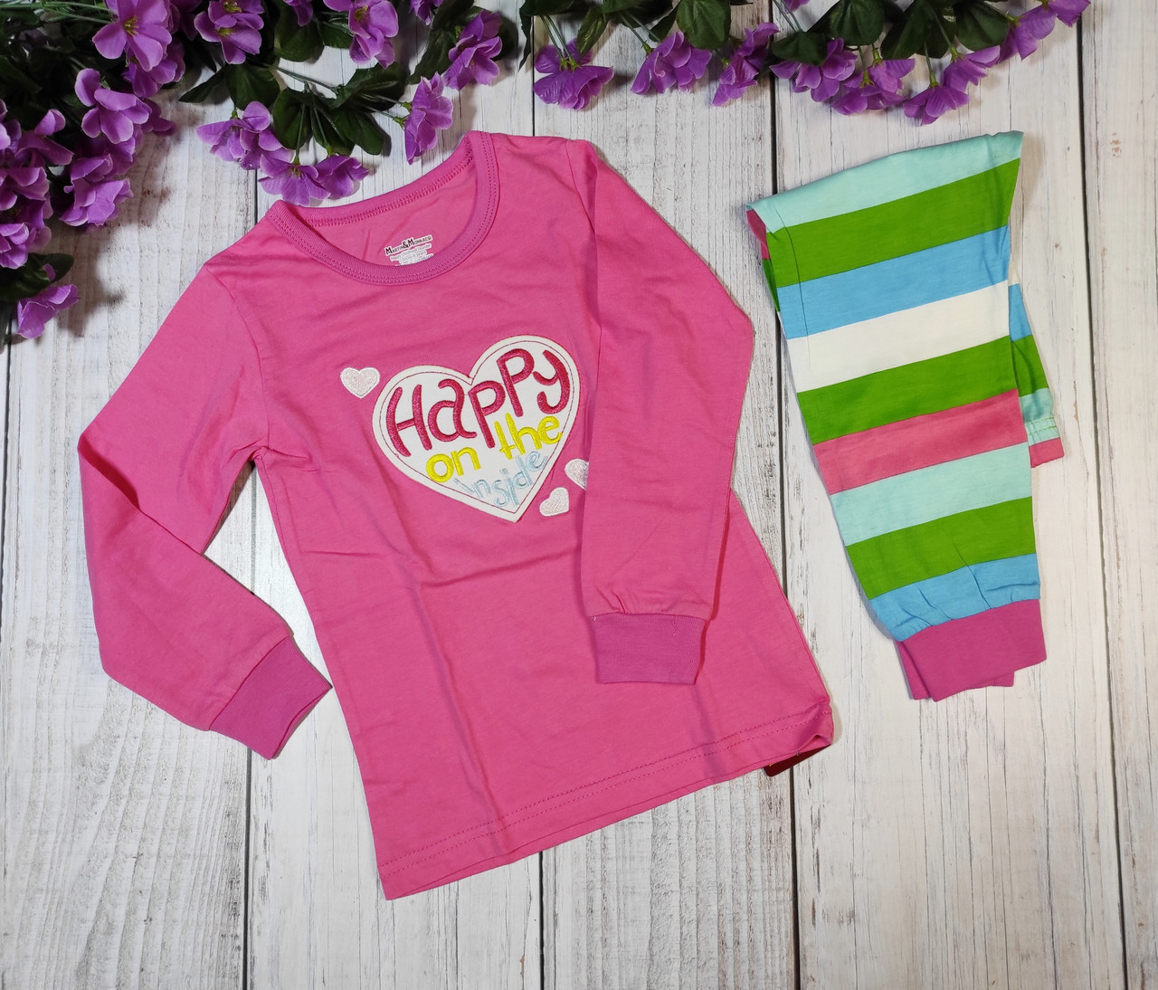 """Пижама для девочек """"Happy"""", на 4,6 лет"""