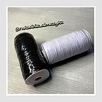 Резинка для изготовления масок 3 мм, чёрная/белая