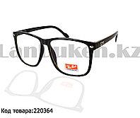 Компьютерные очки с тонкой душкой глянцевые Ray Ban QB 2457 черные