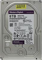 Жесткий диск HDD 8Tb Western Digital Purple, SATA-III, 3,5 IntelliPower 256MB (WD81PURZ)
