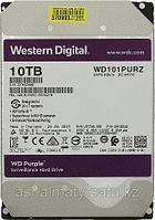 "Жесткий диск WD Purple Western Digital WD101PURZ 10ТБ 3,5"" 7200RPM 256MB (SATA-III) DV&NVR с поддержкой аналитики данных (AI)"