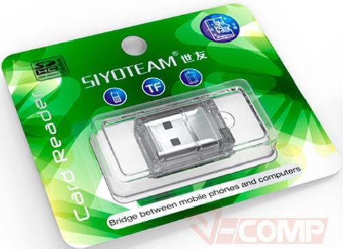Картридер внешний Siyoteam SY-T16 USB 2.0 MicroSD