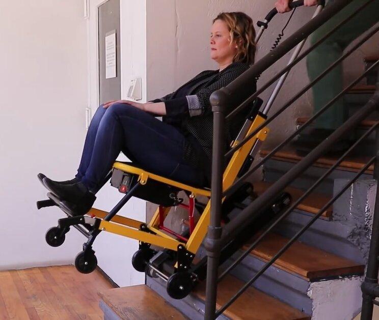 Лестничный подъемник для инвалидов мобильный - фото 3
