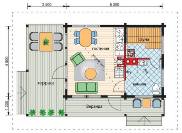Проект бани, план бани, схема бани
